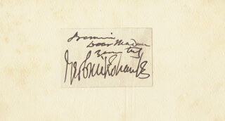 GEORGE CRUIKSHANK - AUTOGRAPH NOTE SIGNED