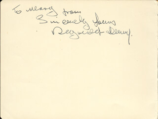 REGINALD DENNY - AUTOGRAPH NOTE SIGNED CO-SIGNED BY: LUISE RAINER - HFSID 100138