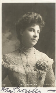 ADA CROSSLEY-MUECKE - PICTURE POST CARD SIGNED 01/09/1908