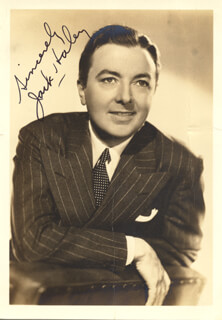 JACK HALEY SR. - AUTOGRAPHED SIGNED PHOTOGRAPH