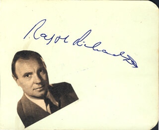 SIR RALPH RICHARDSON - INSCRIBED SIGNATURE CO-SIGNED BY: RENEE ASHERSON