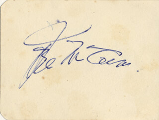 JOEL McCREA - AUTOGRAPH CO-SIGNED BY: DOROTHY TUTIN