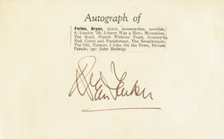 BRYAN FORBES - AUTOGRAPH