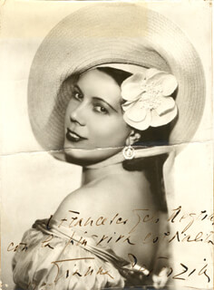 GIANNA PEDERZINI - AUTOGRAPHED INSCRIBED PHOTOGRAPH 1939
