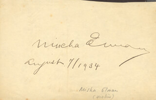LILY PONS - AUTOGRAPH 1934 CO-SIGNED BY: MISCHA ELMAN