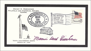 FIRST LADY MAMIE DOUD EISENHOWER - COMMEMORATIVE COVER SIGNED