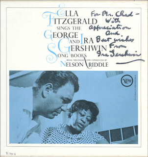 IRA GERSHWIN - INSCRIBED RECORD ALBUM SIGNED