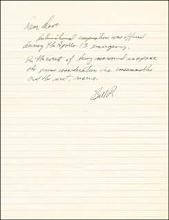 Autographs: COLONEL WILLIAM R. BILL POGUE - AUTOGRAPH LETTER SIGNED