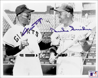DUKE SNIDER - AUTOGRAPHED SIGNED PHOTOGRAPH CO-SIGNED BY: WILLIE SAY HEY KID MAYS