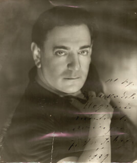 TITO SCHIPA - AUTOGRAPHED INSCRIBED PHOTOGRAPH 1939