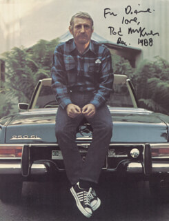 ROD MCKUEN - AUTOGRAPHED INSCRIBED PHOTOGRAPH 12/1988