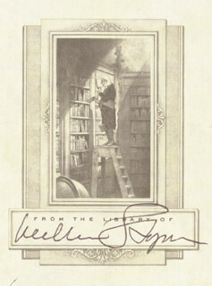 WILLIAM C. STYRON - BOOK PLATE SIGNED