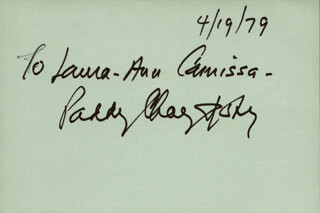 PADDY CHAYEFSKY - INSCRIBED SIGNATURE 04/19/1979