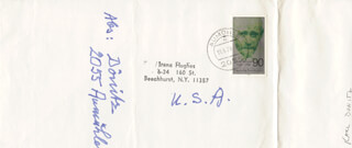 GRAND ADMIRAL KARL DONITZ - AUTOGRAPH ENVELOPE SIGNED 11/06/1978