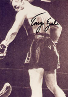 TONY ZALE - AUTOGRAPHED SIGNED PHOTOGRAPH