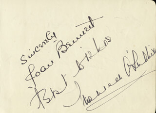 MAUREEN O'SULLIVAN - AUTOGRAPH CO-SIGNED BY: JENNI MATTHEW, JOAN BENNETT