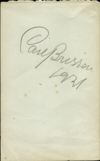 CARL BRISSON - AUTOGRAPH 1927 CO-SIGNED BY: GEORGE BELLAMY