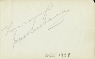 JACK BUCHANAN - AUTOGRAPH SENTIMENT SIGNED