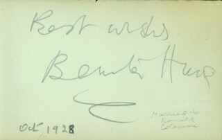 EASY VIRTUE MOVIE CAST - AUTOGRAPH SENTIMENT SIGNED 10/1928 CO-SIGNED BY: ISABEL JEANS, BENITA HUME