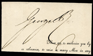 KING GEORGE IV (GREAT BRITAIN) - AUTOGRAPH
