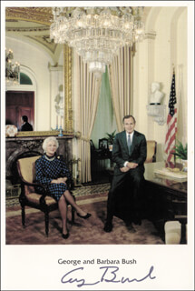 PRESIDENT GEORGE H.W. BUSH - VICE PRESIDENTIAL CHRISTMAS CARD SIGNED 1984
