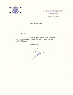 PRESIDENT GEORGE H.W. BUSH - TYPED LETTER SIGNED