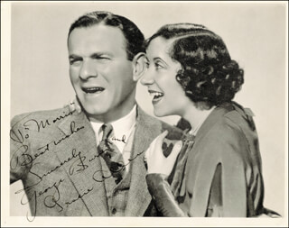 GEORGE BURNS - AUTOGRAPHED INSCRIBED PHOTOGRAPH CIRCA 1930 CO-SIGNED BY: GRACIE ALLEN