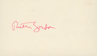 RUTH GORDON - AUTOGRAPH