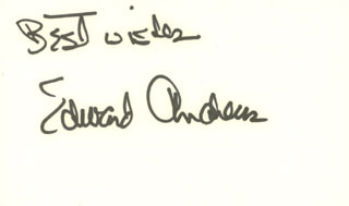 EDWARD ANDREWS - AUTOGRAPH SENTIMENT SIGNED  - HFSID 100653