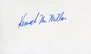 KENNETH McMILLAN - AUTOGRAPH