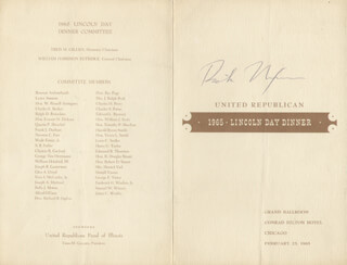 PRESIDENT RICHARD M. NIXON - PROGRAM SIGNED CIRCA 1965