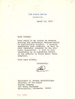 PRESIDENT RICHARD M. NIXON - TYPED LETTER SIGNED 03/23/1971