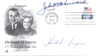 PRESIDENT RICHARD M. NIXON - INAUGURATION DAY COVER SIGNED CO-SIGNED BY: JOHN W. McCORMACK