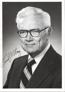 Autographs: PAUL J. FLORY - INSCRIBED PHOTOGRAPH SIGNED