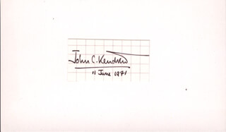 Autographs: JOHN C. KENDREW - SIGNATURE(S) 06/11/1971