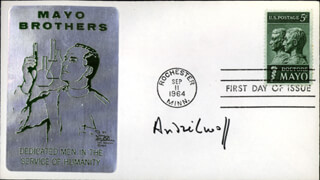 Autographs: ANDRE LWOFF - FIRST DAY COVER SIGNED