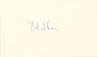 Autographs: DONALD A. GLASER - SIGNATURE(S)