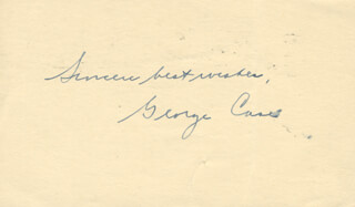 GEORGE W. CASE - AUTOGRAPH SENTIMENT SIGNED 08/31/1945  - HFSID 100795