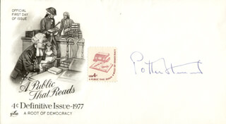 ASSOCIATE JUSTICE POTTER STEWART - COMMEMORATIVE ENVELOPE SIGNED
