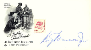 Autographs: ASSOCIATE JUSTICE WILLIAM J. BRENNAN JR. - COMMEMORATIVE ENVELOPE SIGNED