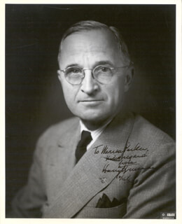 PRESIDENT HARRY S TRUMAN - AUTOGRAPHED INSCRIBED PHOTOGRAPH 12/16/1964