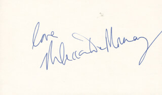 REBECCA DE MORNAY - AUTOGRAPH SENTIMENT SIGNED