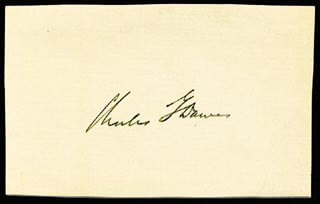VICE PRESIDENT CHARLES G. DAWES - AUTOGRAPH