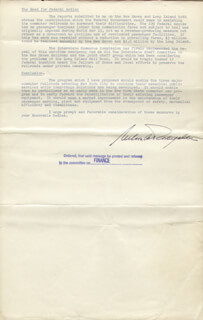 Autographs: VICE PRESIDENT NELSON A. ROCKEFELLER - DOCUMENT SIGNED 03/07/1961