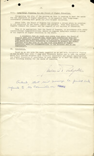 Autographs: VICE PRESIDENT NELSON A. ROCKEFELLER - DOCUMENT SIGNED 01/31/1961