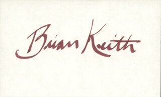 BRIAN KEITH - AUTOGRAPH