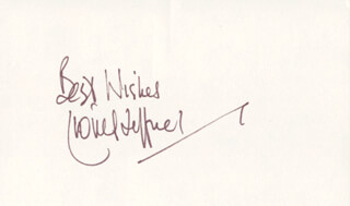 LIONEL JEFFRIES - AUTOGRAPH SENTIMENT SIGNED