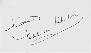 MAUREEN O'SULLIVAN - AUTOGRAPH SENTIMENT SIGNED