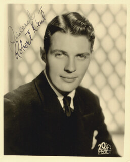 ROBERT KENT - AUTOGRAPHED SIGNED PHOTOGRAPH