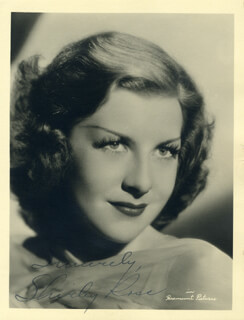 SHIRLEY ROSS - AUTOGRAPHED SIGNED PHOTOGRAPH